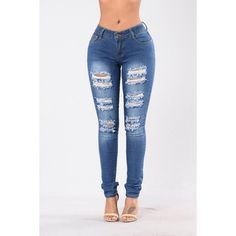 Jeans ($20) ❤ liked on Polyvore featuring jeans, acid wash skinny jeans, high-waisted skinny jeans, distressed skinny jeans, ripped skinny jeans and destroyed skinny jeans