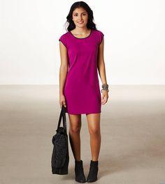 AE Short Sleeve Shift Dress