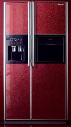 Samsung side by side refrigerator Side By Side Refrigerator, Kitchen Refrigerator, Compact Refrigerator, French Door Refrigerator, Kitchen Appliances, Samsung Fridge, Colonial Kitchen, Kitchen Art, Kitchen Designs