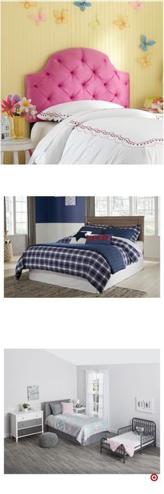 Shop Target for kids beds and headboards you will love at great low prices. Free shipping on orders of $35+ or free same-day pick-up in store. Interior Design Living Room, Living Room Decor, Bedroom Decor, Pretty Bedroom, Girls Bedroom, Bedrooms, Little Girl Rooms, Dream Rooms, Kid Beds