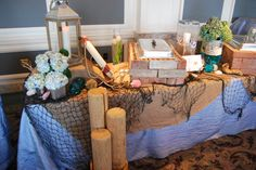 Gift area table or food table