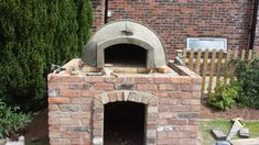 Pizzaofen bauen Ziegel oval