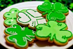 St. Patrick's Day Shamrock Sugar Cookies (Set of Six) by Sweet17Cookies on Etsy