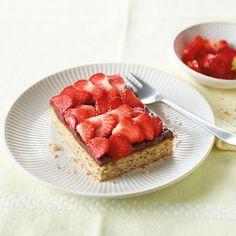 Erdbeerkuchen mit Puddingcreme Rezept | Weight Watchers