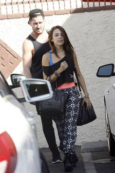 Janel and Val outside DWTS Studio.  2014