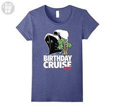 Womens Birthday Cruise 2017 T-Shirt - For Birthday Cruisers Medium Heather Blue - Birthday shirts (*Amazon Partner-Link)