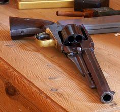 Revolver on drawer | Original Remington 1858