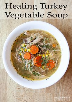 Healing Turkey Vegetable Soup - Incredibly healthy! Heals your gut and aid in digestion, it reduces joint pain and inflammation, provides you with magnesium, calcium and other minerals, fights infections and helps your hair and nails look fabulous.