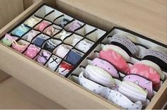 Seriously Life-Changing Clothing Organization Tips Bra Underwear Drawer Organization.I need this! I have more bras than I can deal withBra Underwear Drawer Organization.I need this! I have more bras than I can deal with Organizar Closet, Ideas Para Organizar, Closet Organization, Clothing Organization, Closet Storage, Organization Ideas, Bathroom Storage, Bathroom Closet, Smart Storage