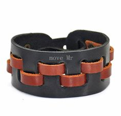 Fashion Leather braceletblack & brown by casejewelrybracelet, $8.50
