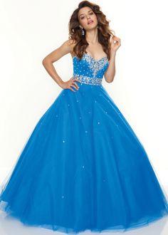 Ball Gown sweetheart floor length blue tulle prom dress with beading Mori Lee Prom Dresses, Prom Dresses Blue, Pretty Dresses, Homecoming Dresses, Formal Dresses, Evening Dresses, Formal Prom, Banquet Dresses, Wedding Dresses