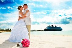 Cruise Weddings!! LOVE the ship in the back! Destination wedding here we come!