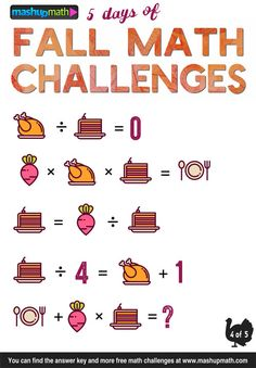 Are Your Kids Ready for 5 Days of Fall Math Challenges? Online Games For Kids, Math Games For Kids, Math Activities, Daily Math, Daily 5, Math Board Games, Maths Puzzles, Mind Puzzles, Math Talk