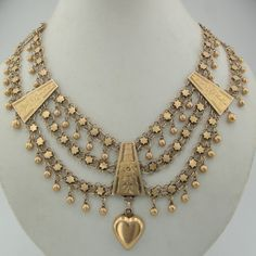 Vintage Yemenite 14K Yellow Gold Necklace | ca. 1930s | 7999$