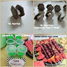 Running away? I'll help you pack.: Star War's Party ... Food - Jabba Jigglers, Obi-Wan Kabob-ie Kabobs & Tie Fighters