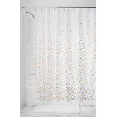 InterDesign Confetti Decorative PEVA Shower Liner