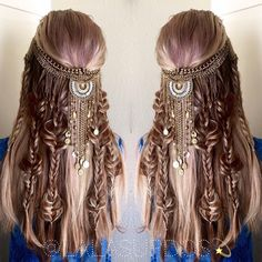 "fyhaircolors: "" Boho hair by by hair stylist Laura Kaszoni https://instagram.com/lalasupdos/ """