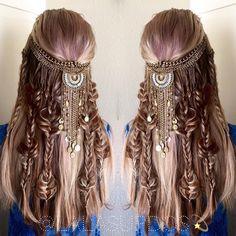 "fyhaircolors: "" Boho hair by by hair stylist Laura Kaszoni https://instagram.com/lalasupdos/ """
