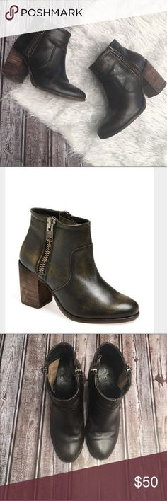 1328689121b85 Hinge booties N.376 Stylish and easy to dress up or down distressed leather  booties