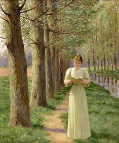 Classic Paintings, Old Paintings, Beautiful Paintings, Victorian Paintings, Victorian Art, Reading Art, Woman Reading, Classical Art, Renaissance Art