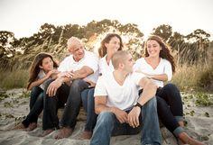 Family beach photo with teens. Hilton Head Island, SC. Bluffton's Best Family Photographer 2012-2014.