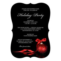 32 best corporate holiday party invitations images on pinterest elegant business holiday party invitation wajeb Choice Image