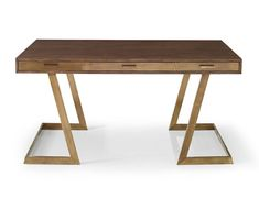 Oslo Grey Oak Desk with Aged Brass Frame Chair Clearance: 26