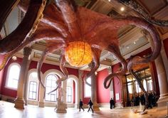 """Badass Octopus Art. A 25 meter wide octopus called """"Wu Zei"""" by artist Huang Yong Ping. Wu Zei is part of an exhibition called """"Mediterranean Sea"""" housed at Monaco's oceanographic museum."""