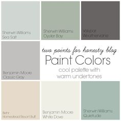 two points for honesty: whole house paint palette