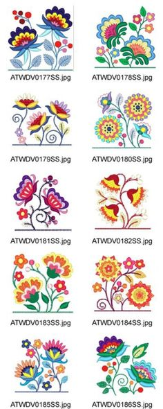 Jacobean-Pocket-Toppers 10 Machine Embroidery Designs from Crewel Embroidery Kits, Ribbon Embroidery, Cross Stitch Embroidery, Machine Embroidery Designs, Embroidery Books, Embroidery Ideas, Embroidery Alphabet, Embroidery Needles, Embroidery Supplies