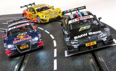 Slot cars, Carrera's New DTMs, BMW M3, Mercedes Benz CLK, Audi A5