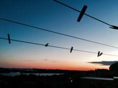 pinching the sunset
