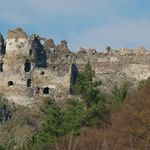 The ruins of the medieval Šášov Castle stand above the river Hron not far away from Žiar nad Hronom in central Slovakia. According to a legend, the lord of the Zvolen Castle had it built for his court joker who saved his life while hunting. Slovakia