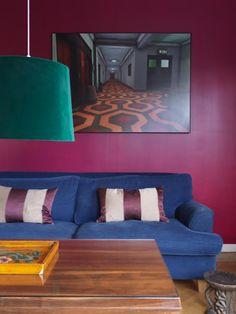 sofa azul bic