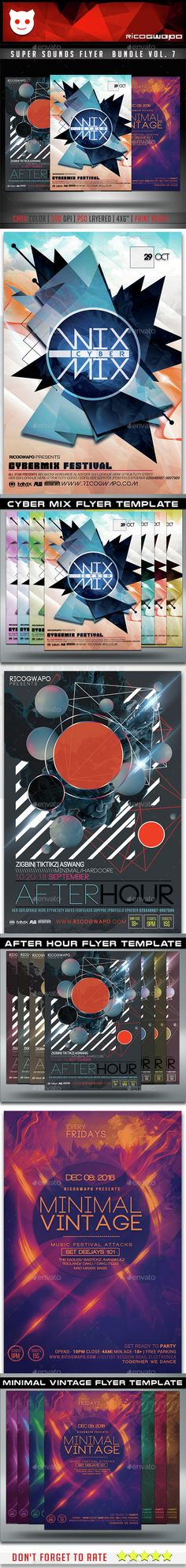 Super Sounds Flyer Template PSD Bundle. Download here: http://graphicriver.net/item/super-sounds-flyer-bundle-vol-7/15189853?ref=ksioks