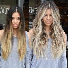 Mind Blowing Hair Transformation Before & After Photos - Gallery OMG-Worthy Transformations - Blonde Hair Looks, Blonde Hair With Highlights, Brown Blonde Hair, Brunette Hair, Dark To Blonde, Brown To Blonde Hair Before And After, Going Blonde From Brunette, Blonde Honey, Long Brunette