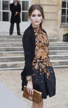 Celebs at the Dior Fall/Winter 2012/2013 Fashion Show during Paris Fashion Week in Paris