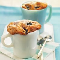 Blueberry Muffin in Mug- so yummy and easy the kids will love it!