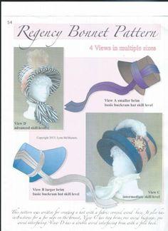 Amazon.com: Regency Period Hat or Bonnet Pattern: Lynn McMasters pattern
