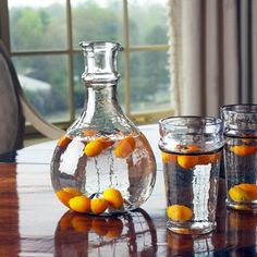 It's easy to enjoy our elegantly simple hammered glassware. All feature gently rounded bases and thick walls for greater weight and stability. CASTILLIAN DECANTER CLEAR HAMMERED dia x 10 Bottles And Jars, Hot Sauce Bottles, Handmade Home Furniture, Highball Glass, Kitchen Items, Kitchen Decor, Smart Kitchen, Kitchen Stuff, House