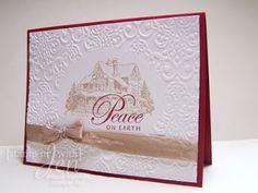 Christmas Lodge ; Damask TIEF ; Darice oval Easy Frames ; Christmas
