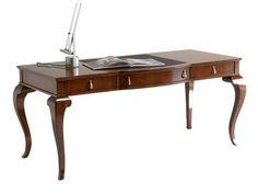 Wooden writing desk with drawers RUBENS by SELVA