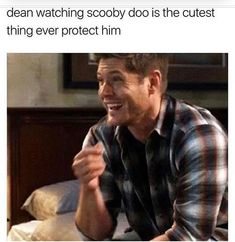 This was honestly my favorite ever. Just sucks that he lost his memory and almost died (again). Destiel, Johnlock, Serie Marvel, Genuine Smile, Supernatural Memes, Super Natural, Dean Winchester, Jensen Ackles, Superwholock