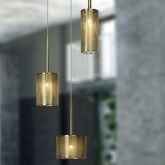GRACIAN - Suspension 3 lumières Laiton Ø25cm - Suspension Brilliant designé par