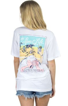 Is your version of The Sweet Life relaxing at the track with a mint julep in hand? Then we have just the tee for you in our Derby Sweet Tee! Offered in pink and white, this tee is sure to become a cla