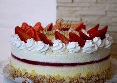 Fehércsokis eper-mangó torta | Margaréta 🌼 receptje - Cookpad receptek Mousse, Recipes, Food, Birthday Cakes, Essen, Birthday Cake, Meals, Ripped Recipes, Eten