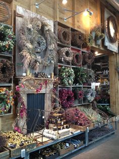 The Terrain shop in Westport, CT/wall display Flower Shop Names, Flower Shops, Garden Center Displays, Flower Shop Displays, Shop Name Ideas, Flower Shop Interiors, Fleur Design, Vibeke Design, Home Decoracion