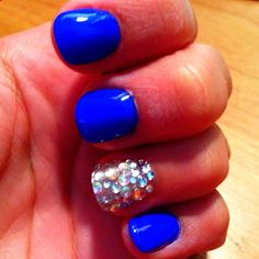 Endless Blue (Sinful Colors) with rhinestone bling!