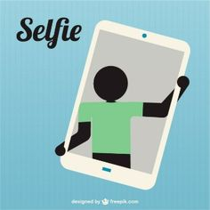 Silhouette taking selfie icon