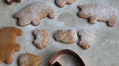 Mexican Piggy Cookies. No piloncillo where I live, so I made with dark brown sugar and they turned out pretty tasty. Sprinkled some with powdered sugar and some with a combo of sugar/cinnamon. Do this while the cookies are still warm and the sugar will stick better.